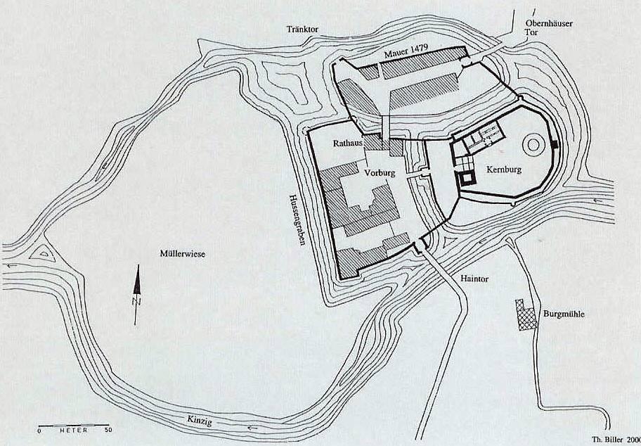 Grundriss Zeichnen Unterricht : Bild Burg2  der Grundriss