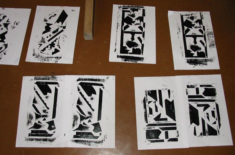 Drucken: Kordeldruck, Monotypie und Plattendruck